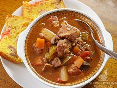 A slow cooker pork stew is the perfect meal for when you want something hearty and delicious. I highly recommend giving this delicious stew a try. Large Slow Cooker, Slow Cooker Pork, Slow Cooker Recipes, Crockpot Recipes, Cooking Recipes, Healthy Recipes, Pork Roast Recipes, Pork Stew, Slow Cooking