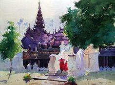 Artodyssey: Myoe Win Aung WATERCOLOR