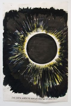 View No Title The earth, when by Raymond Pettibon on artnet. Browse more artworks Raymond Pettibon from Regen Projects. Tag Art, Raymond Pettibon, Eclipse Solar, Graffiti, Street Art, Moon Photography, Guache, Science Fiction Art, Elementary Art