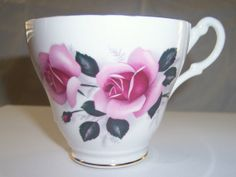 Vintage Pink Rose Teacup Royal Ascot Rose by EarthlieTreasures, $22.00