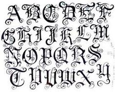 Resultado de imagem para fontes de desenhos para tatuagem