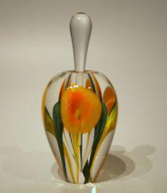 Orange Calla Lily Perfume Bottle