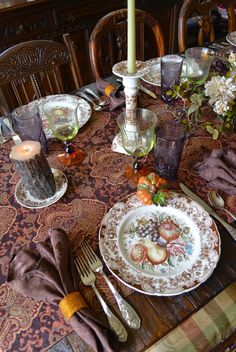 Nancy's Daily Dish: Johnson Brothers Harvest Fruit Tablescape