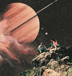Retro Landscape. Surreal Mixed Media Collage Art By Ayham Jabr. Instagram-Facebook