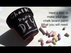 DIY Chalkboard Paint   Gift Ideas + Recipe