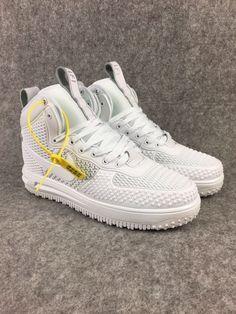 2018 Spring Fashion Nike Lunar Force 1 Duckboot High All White 8acd52218173b