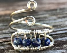 Lapis Wire Wrapped Ring