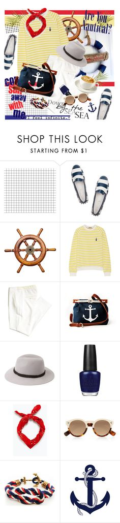 """Ahoy, There! Nautical Style"" by dedeata ❤ liked on Polyvore featuring Tod's, H&M, Chatham, Forever 21, OPI, Zara, Illesteva, Coffee Shop, Wallflower and Nautical"