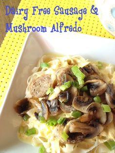 Dairy Free Sausage & Mushroom Alredo from Broccoli Cupcake!