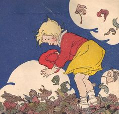 Nan plays in leaves -- children's story illustrations album on flickr