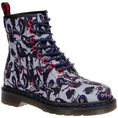 Dr Martens X Adventure Time Marceline Castel Boots (Multicoloured) (£110) ❤ liked on Polyvore featuring shoes