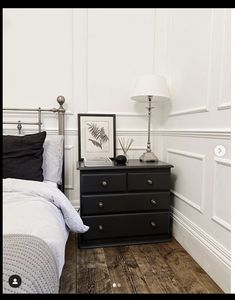 Room Ideas Bedroom, Kids Bedroom, White Wall Paneling, Painted Night Stands, Last Night, Dresser As Nightstand, Upcycle, Stylists, Messages