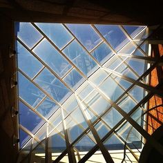 Looking up at the glass ceiling in Olin Hall. By Cameron Johnson, a student photographer with the Drake Photo Bureau. #DrakePOTD
