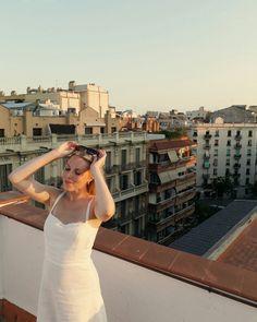Barcelona, Spain rooftop terrace view  @sophiastbe