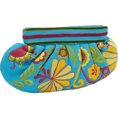 #FabricHandbags, #Handbags - Moyna Handbags Medium Gathered Clutch Turquoise - Moyna Handbags Fabric Handbags