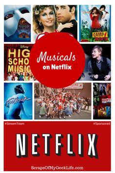Musicals on Netflix My Family Streams Often #StreamTeam