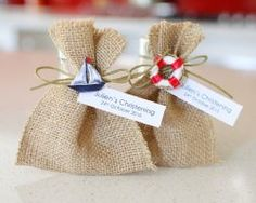 Nautical Christening Bomboniere Satchel