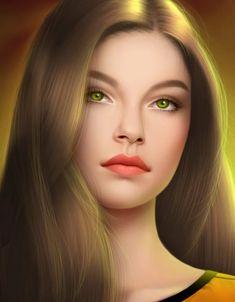 create high quality cartoon portrait as you want by drimgrine Fantasy Girl, Fantasy Art Women, Beautiful Fantasy Art, Beautiful Eyes, Digital Art Girl, Digital Portrait, Portrait Art, Real Beauty, Beauty Art