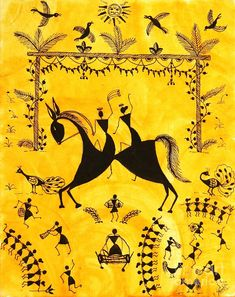 Warli painting pepupstreet.com, #artstory, #handmade, #warli, #artwork, #walldecor