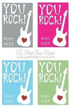 You Rock Valentine FREE printable