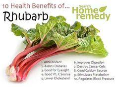 Health benefits of Rhubarb!!