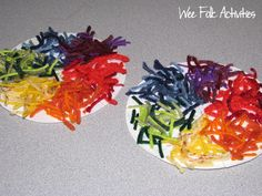 Yarn Color Wheel. They can practice cutting, gluing, and sorting all in one activity!