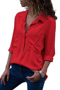 00b71396d40 10 Best Red button down shirt images in 2019