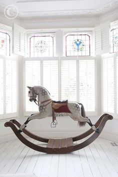 Antique rocking horse...like many children, my obsession with horses and riding started with one of these...