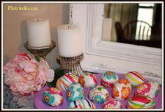 Creative Paper Napkin Easter Eggs