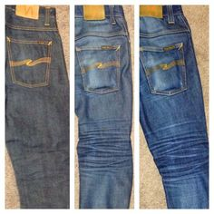 Day 1 |1 year no wash | 1 year after wash Nudie Jeans