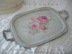 Just finished my Antique French Roses romantic tray! Hope you like it. Available at www.debicoules.com   http://www.debicoules.com/item_582/Antique-Romantic-French-Roses-Tray.htm