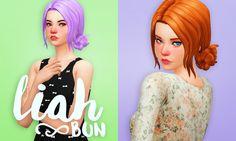 Holosprite | Custom Content for the Sims 4 - Hair: Liah Bun