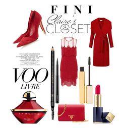 """Claire's Closet"" by fini-i ❤ liked on Polyvore featuring Naeem Khan, Dune, Estée Lauder, Guerlain, Stila, Topshop, Gucci, MAC Cosmetics and Prada"