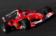 Michael Schumacher dans la F2003 -GA dans le Grand Prix de Hongrie, Hungaroring