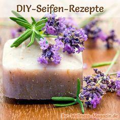 Seife herstellen - Lavendelseife selber machen