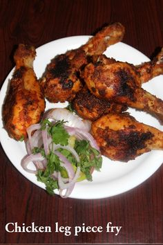 Chicken leg piece fry is a simple chicken legs recipe which is cooked on stove top by marinating the chicken drumsticks in some spices. Chicken Drumsticks Recipe Indian, Chicken Leg Piece Recipe, How To Cook Drumsticks, Chicken Leg Recipes, Indian Chicken Recipes, Chicken Drumstick Recipes, Indian Food Recipes, Indian Fried Chicken, Roasted Chicken Legs