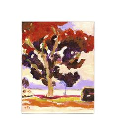 Original Painting Impressionist Landscape California by jcstrong, $40.00