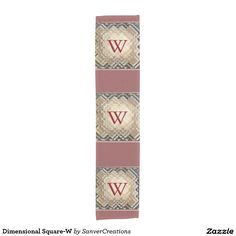 Dimensional Square-W Short Table Runner