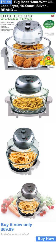 Small Kitchen Appliances: Big Boss 1300-Watt Oil-Less Fryer, 16-Quart, Silver - Brand New, Free Shipping! BUY IT NOW ONLY: $69.99