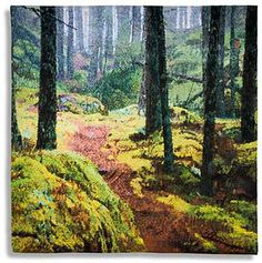 swedish Helena Hernmarck Maine forest