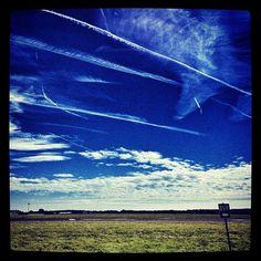 Battle of Britain skies.....