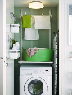 50 Beautiful and Functional Laundry Room Design Ideas Laundry room decor Small laundry room ideas Laundry room makeover Laundry room cabinets Laundry room shelves Laundry closet ideas Pedestals Stairs Shape Renters Boiler Small Laundry Space, Ikea Small Spaces, Tiny Laundry Rooms, Small Space Storage, Laundry Room Organization, Laundry Room Design, Small Shelves, Ikea Laundry, Laundry Drying