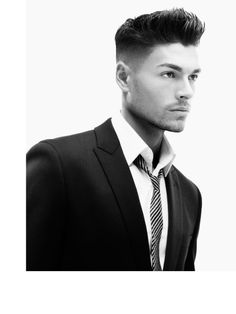 I want. holidayhairstudio.com.. Yes, men have hair too.  I love this look.  So clean, can go either way, daytime professional, or night wild!!!!!