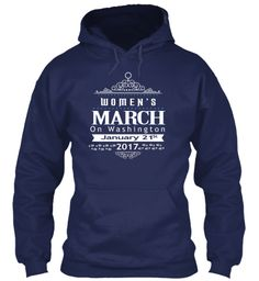 Women's March On Washington T Shirts     Navy Sweatshirt Front