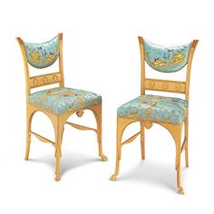 "J.P. Morgan ""Pompeiian"" Side Chairs, ca. 1880"