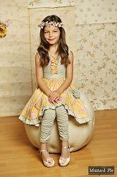 Mustard Pie Sunny Grey Cozette Dress