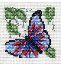 "Bucilla ® Counted Cross Stitch - Beginner Stitchery - Mini - Butterfly    Size: 2"" x 2"""