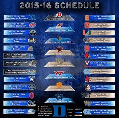 graphic relating to Duke Basketball Schedule Printable known as Blue Devils