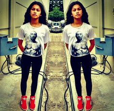 Red high top adidas // Zendaya has always been my inspiration to never let a style define you.