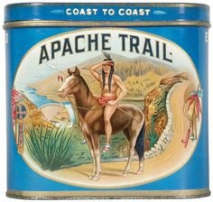 Apache Trail 50 Cigar Advertising Tin